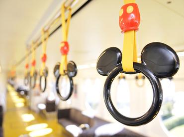 【ステーション・キャスト】ゲストを乗せて、夢の国へ出発☆彡=■世界でただ1つ<Disney×鉄道>バイト■=週2~&土日だけOK★バイトデビューも歓迎♪