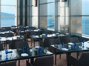 クレメント内のレストランでスタッフ大募集! 20Fにあるので、瀬戸内海や高松市街の景色を眺めながらお仕事ができますよ♪