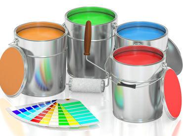 機械に表示された通りに、それぞれの塗料を混ぜていくだけ! どなたでもスグにできる簡単作業★ ※写真はイメージです