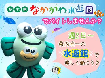 \働きながら思わずうっとり♪/ 栃木県唯一の水族館バイト★癒しの空間で働けるのも、水族館STAFFだけの特権です♪