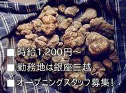 日本ではまだその魅力が十分に知られているといい難いトリュフ。私たちと⼀緒に⽇本にもその魅力を広めてください!