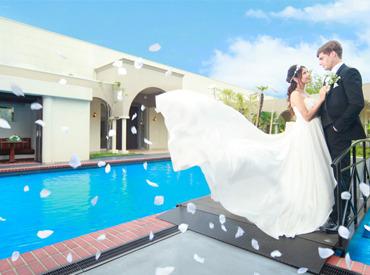 【結婚式場STAFF】\幸せな1日をお手伝い♪/結婚式場で料理の配膳等をお任せ★カッコいい&カワイイ制服を着て働こう◎学生&フリーター大歓迎!