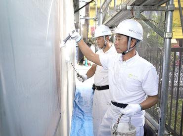 【塗装アシスタント】怖くてキツイ人が多そう??そんなイメージ覆します♪「家から近かったから笑」そんな理由で始めた先輩も長く続けてくれてます◎