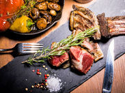 昼はコース1種&お肉3種だけで覚えやすい☆ 夜はお肉料理がメインのお洒落なイタリアン☆