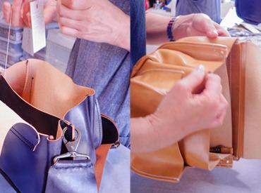 【内職作業】オリジナルバッグや靴、財布のパーツ作成補助をお願いします!お任せするのは裁断や縫い合わせなど