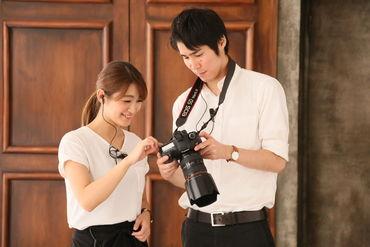 キラキラ楽しい写真スタジオ◇* 周りのスタッフさんとも協力しながら お客さまの最高の瞬間を写真にします♪
