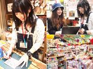 「売り場作りも楽しみの一つ♪」 イベントやシーズン毎に売り場をチェンジ☆手書きや写真付きPOPもSTAFFのお手製なんです♪