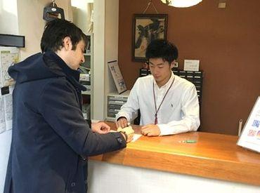 ホテルのお仕事が初めてでもOK! 「英語で話しかけられたら困る」 音声翻訳機があるので、話せなくても安心♪