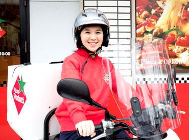 【デリバリー】は、バイクですいすい快適★ 土地勘がない方も出発前に先輩STAFFと一緒に確認◎ 安心してスタートできますよ♪
