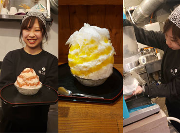 """東京のかき氷カフェと言えば""""雪うさぎ""""♪ 周りに自慢できる人気のお店で 働くチャンス★ モデルや芸能人の来店多数!"""