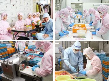 食品をあつかう工場なので、職場はとっても清潔♪手袋をするので、匂いの心配もありません◎