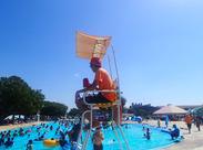 ≪暑い夏はプールでバイト!≫学生&フリーターが毎年活躍中!毎年働くスタッフ多数★夏休みの予定はしらこバイトで♪決まり!