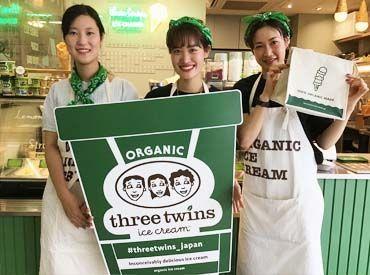 【アイスクリーム販売Staff】カリフォルニア州から日本へ初上陸!!SNS映え◎の可愛いアイス販売♪*20代前半スタッフ活躍中!バイトから社員、店長への道も!!