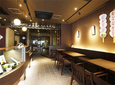 ◆高辻本店◆ 閑静な雰囲気が広がる特別な空間! お茶室を模した店内からは坪庭が見わたせ、ゆったりとした時間が流れています◎