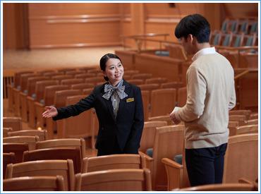 【コンサートホール案内staff】未経験者大歓迎♪様々な有名楽団の公演も多数あり。とってもレアなお仕事です♪