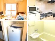 家具家電付き寮完備!今なら寮費2ヵ月無料! 快適新生活をサポートします♪