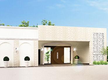 ピカピカの式場で働ける♪ 1日1組完全貸切の『家族葬のカナクラ』◇*。 白を基調とした、明るくモダンな式場です。