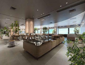 2021年6月に新規OPENするオシャレなカフェテラス!!☆ 京セラ株式会社のビルの12Fで働ける?!
