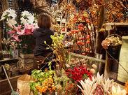"""《生花専門Staff募集》オザキフラワーパークの中でも""""花形""""部門♪ディスプレイやアレンジメントなどセンスを発揮できます!"""