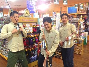 探検隊みたいな制服がCOOL&CUTE★ 「釣りしたことない…」なんて方も大歓迎です! 他店舗でも、未経験からスタートした方が多数◎