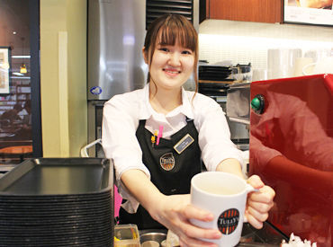 【カフェStaff】本屋さんの中のタリーズコーヒー。.*+落ち着いた雰囲気で働ける♪週1~◎駅チカで通勤ラクラク!★交通費支給 ★社割あり
