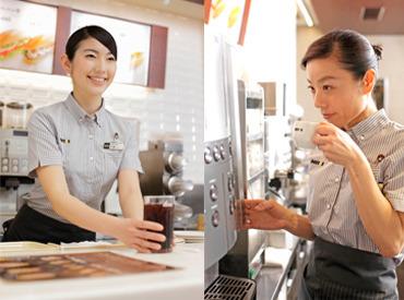 【カフェスタッフ】\◆ バイト・パートデビューも大歓迎 ◆/<1日3h~>生活に合わせて働ける♪未経験OK!10~40代活躍中!スタッフ仲良し♪
