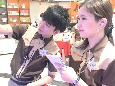 【ホールスタッフ】原木中山駅改札を出てスグ♪10代~20代のSTAFFが活躍中!未経験者さんでも働きやすいお店です!