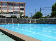 東村山の運動公園のプールのお仕事です。