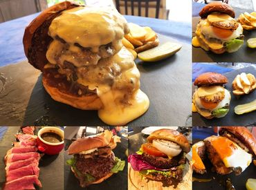 チーズがとろ~り… フワフワなバンズ… ジューシーなビーフ… そんな絶品ハンバーガーが 食べられちゃう♪(*'ω' *)