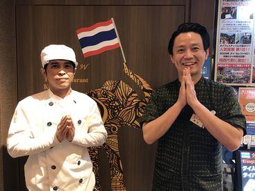 実は奥深いタイの文化☆彡 タイの伝統的な挨拶「ワイ」でお迎え! 相手への敬意を示すもので、合掌してお辞儀するんです♪