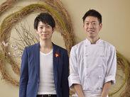 左が社長で右がシェフ。実はシェフ、新潟で一番料理の実力があると言われているんだとか…!?未経験でもイチから丁寧に教えます◎