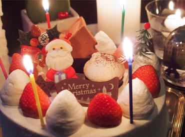 【クリスマスケーキ製造補助】☆○o*毎年恒例!大人気★『クリスマスケーキ製造』短期バイト募集*o○☆◆履歴書は不要◆日払い・週払いも可◆交通費あり