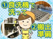 ◆時給1050円スタート お仕事は食器の洗浄と搬出準備がメイン!カンタン作業×短時間でサクッと稼げる♪バイトはキッチンラボで!