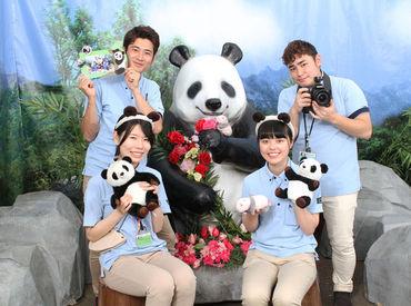 【フォトスタッフ】。*●フォトスタッフ大募集●*。パンダがいる人気動物園で楽しく写真撮影♪<未経験OK>土日祝長期で勤務できる方大歓迎★