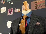 スーツの知識等は一切なくても大丈夫! 落ち着いた雰囲気で働きたい方に◎