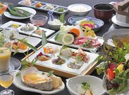 目にも美味しいお料理の数々で、 一緒にお客様をおもてなししましょう♪