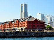 港町のオシャレな空間で、歴史ある横浜赤レンガ倉庫♪働きながら芸術センスも磨いて、友達に自慢しちゃおう☆