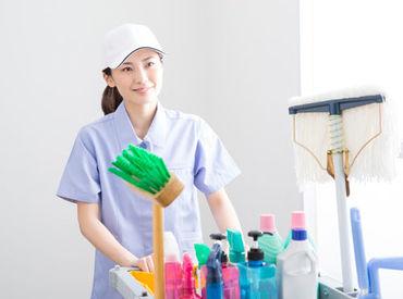雑巾がけなどの日常清掃なので、難しいことはありません♪ シルバー世代の方まで、ムリなく働けています◎ ※画像はイメージ。