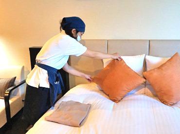【ホテルの客室・ロビー清掃】かけこみバイト大歓迎♪\キレイなホテルで働ける/短期間で集中して稼ぎたい方◎誰でもスグにできる!!シンプルWORK♪
