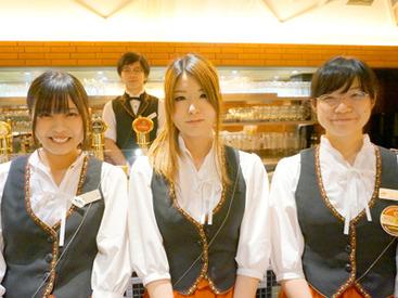 【ホール】\★オシャレなビアホール@新宿★/≪週1日~&1日4h~≫自分のペースで働こ♪未経験&バイトデビューの方も歓迎◎
