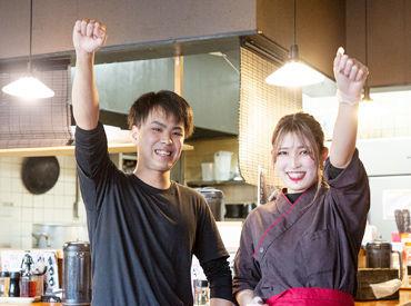県内のグループ店舗(麺屋 軌跡2店舗)で 30名以上のスタッフが活躍中! オシャレしながら働けるのが嬉しい♪