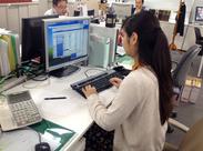 PCデータ入力などの一般事務のお仕事です!新しいキレイなオフィスで働けますよ♪