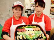 \未経験スタートOK!/ まずは明るい笑顔&元気な挨拶♪ 楽しく働きたい人は「寿司ざんまい」へいらっしゃい☆