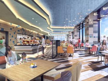【ホテル内レストランSTAFF】レストラン朝食 STAFF大募集新規レストランで新しいメンバーと海の見えるブッフェスタイルのレストラン