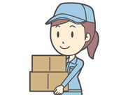 トラックにある荷物をローラーで運んで倉庫に納品…1日で覚えられるシンプル作業です*゜♪90%以上の方が未経験からStart◎