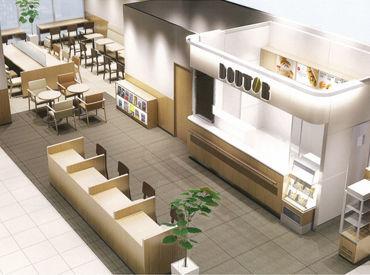 病院内の綺麗なドトールカフェです。来店されたお客様に安らげる空間をご提供くださいね♪