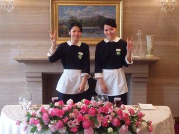 """【サービススタッフ】。*●憧れの""""ホテル""""バイト●*。パーティー会場やレストランがあなたのお仕事場♪その他、京都の有名ホテルなど勤務地多数★"""