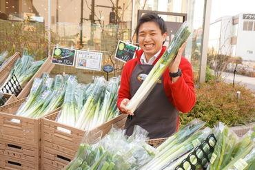普通のスーパーには売っていないレアなお野菜が入荷することもあります◎働きながら自然と野菜に詳しくなれるお仕事です♪