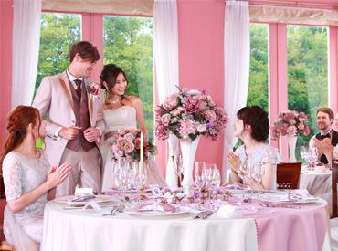【配膳STAFF】□結婚式場でお仕事♪マナーや接客も実は難しくないんです◎研修でしっかりフォロー★学生さんも無理のないシフトで働ける♪