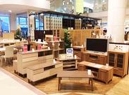 かわいい雑貨やオシャレな家具に囲まれてワクワク♪「この家具を部屋において・・・★」なんて想像も広がっちゃう!